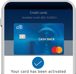 Activate Citi Cashback card from Citi Mobile App
