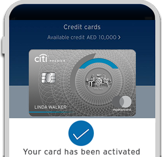 Activate your new Citi Premier Credit Card with Citi Mobile® App