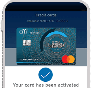 Activate your new Citi Rewards Credit Card with Citi Mobile® App