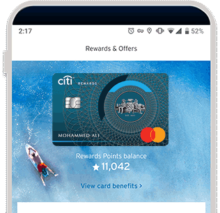 See your ThankYou® points with Citi Mobile® App