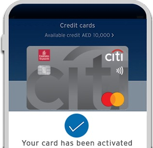Activate your new Emirates Citibank World Credit Card with Citi Mobile® App