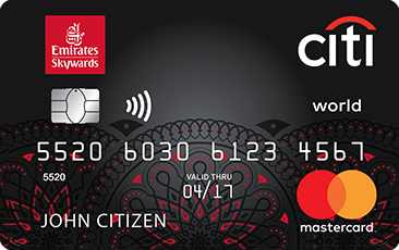 Emirates Citi <i>World Mastercard<sup>®</sup></i>