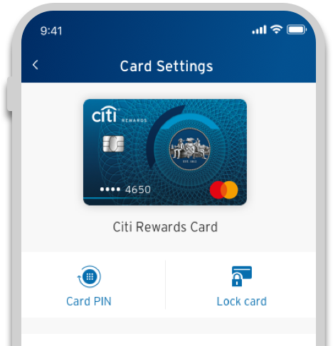 Lock and unlock your credit card