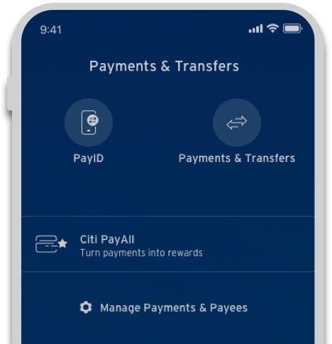 Make payments and transfers