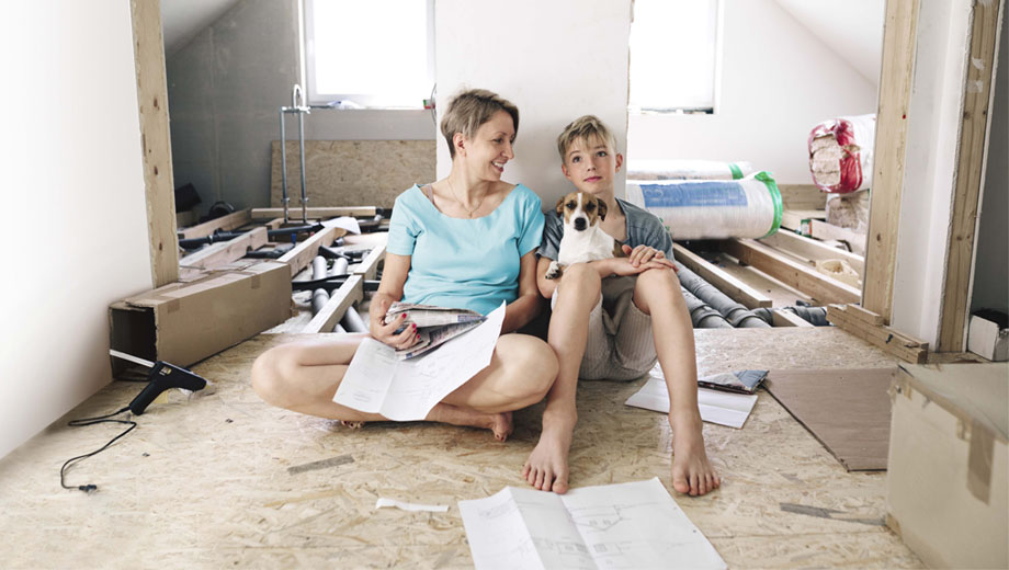 Mother and son renovate