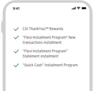 Image showing Powerful features on Citi Mobile App