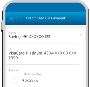 Smartphone displaying the bill payment process of IndianOil Citi Fuel Credit Card on Citi Mobile App