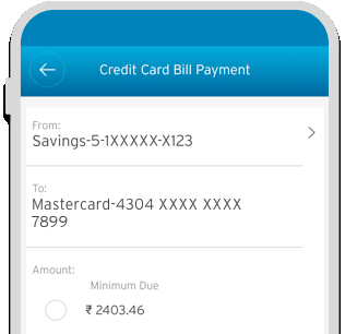 Smartphone displaying the bill payment process of Citi Cash Back Credit Card on Citi Mobile App