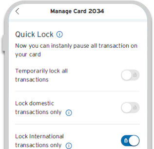 Smartphone displaying different loan tenure options available on Citi Prestige Credit Card