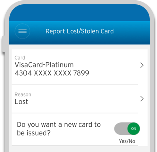 Report Lost/Stolen Card