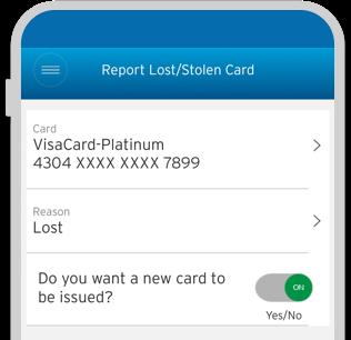 Report Lost/Stolen Card