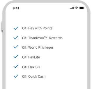 Citi PremierMiles Card - Powerful features on demand
