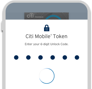 Secure your online transactions with Citi mobile token