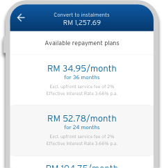 Convert your outstanding balance into monthly instalments with Citi FlexiBill