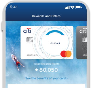 View your Citi Rewards points balance
