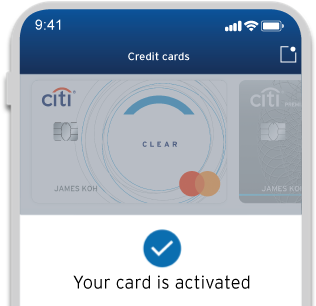 Activate a new Citi Clear Card