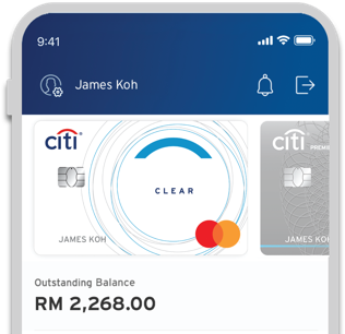 Everything at a glance with Citi Clear Card
