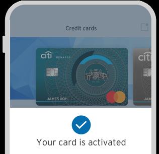 Activate a new Citi Rewards card