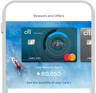 View your Citi Rewards points balance with Citi Mobile App