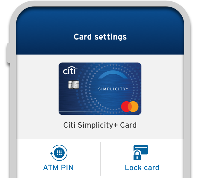 Lock and unlock your card