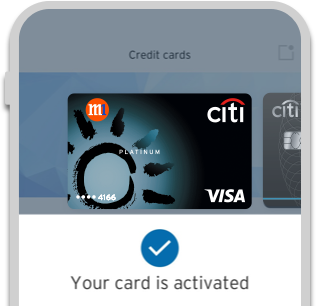 Citi Mobile® App - Activate a new card