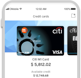 Citi Mobile® App -Everything at a glance