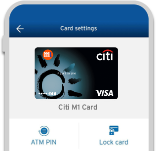 Citi Mobile® App - Lock and unlock your card