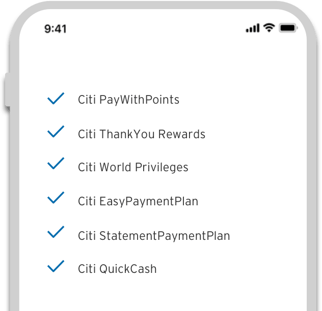 Citi Mobile® App - Features on demand