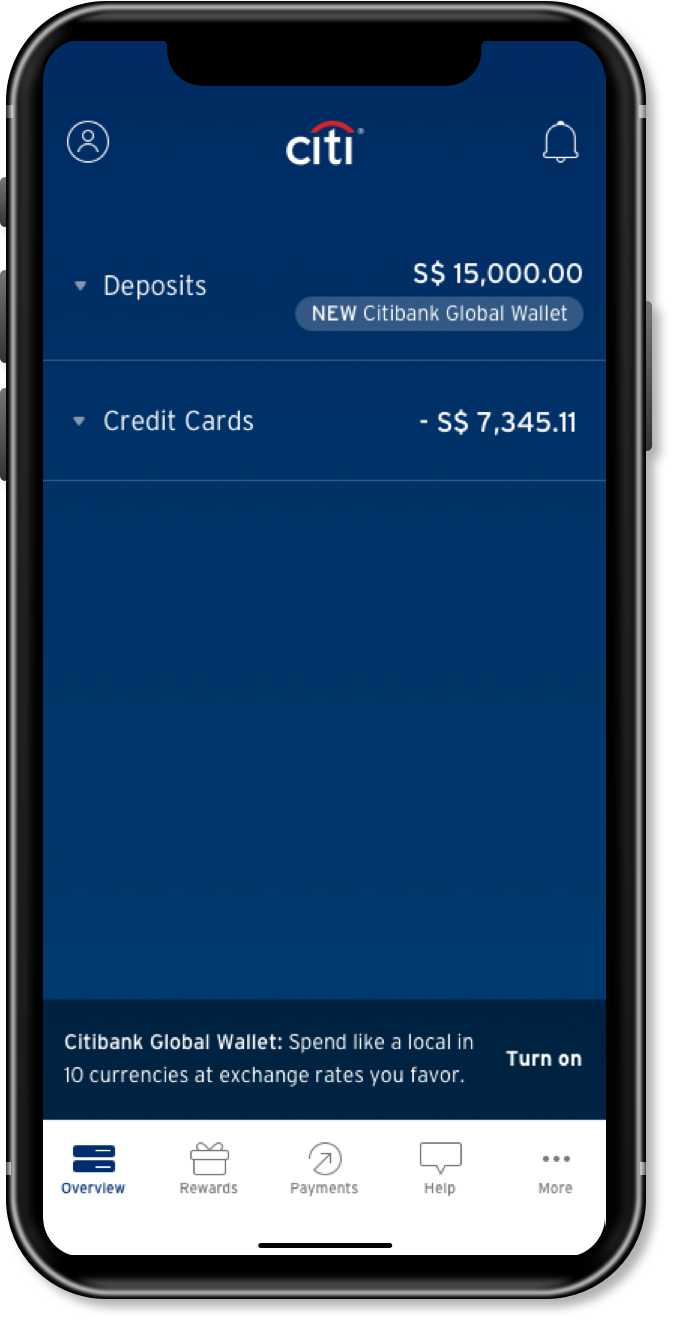 Log into your Citi Mobile® App