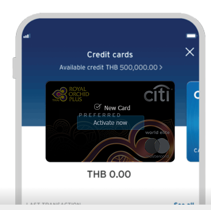 activate citi royal orchid plus preferred credit card through citi mobile app