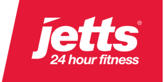 Jetts 24 hours fitness Logo, which is a partner brand of Citi Lazada credit card