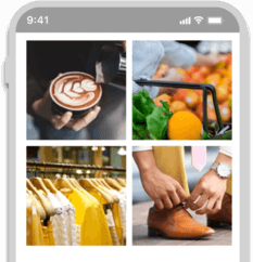 Smartphone showcasing a wide range of shopping options where users can redeem Reward Points with Citi Premier card