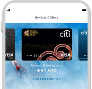 track citi royal orchid plus preferred rewards points with citi mobile app