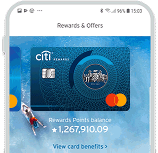 View your rewards points balance & offers