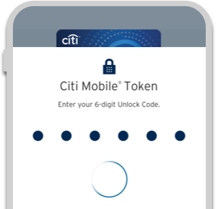 More secure with Citi Mobile® Token