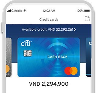 Everything at a glance with Citi cash Back Card