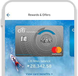 View your Citi Miles Balance with Citi Mobile App