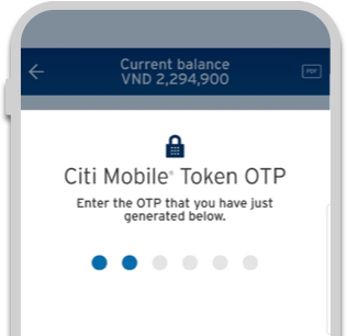 Secure your Online Transactions with Citi Mobile® Token